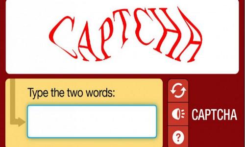Captcha screen